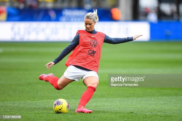 Amandine HENRY of France warms up before the Tournoi de France International Women's soccer match between France and Canada on March 4 2020 in Calais...
