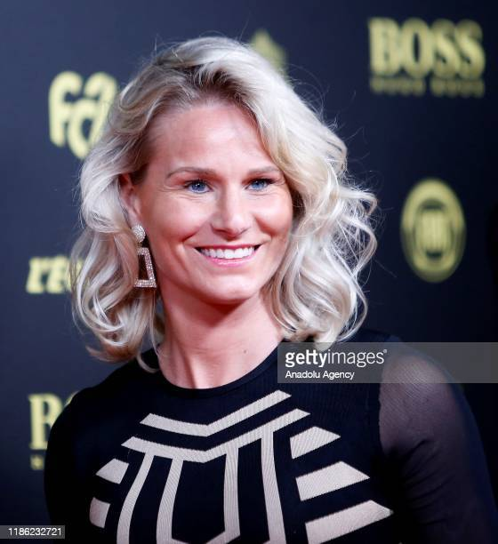 Amandine Henry of Olympique Lyon arrives for the Ballon d'Or ceremony at Theatre du Chatelet in Paris on December 02 2019