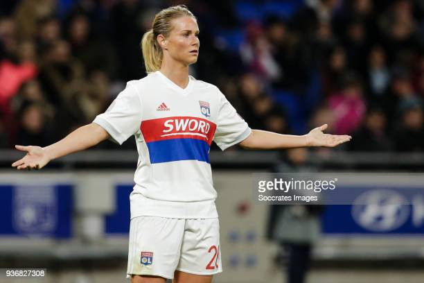 Amandine Henry of Olympique Lyon Women during the match between Olympique Lyon Women v FC Barcelona Women at the Parc Olympique Lyonnais on March 22...