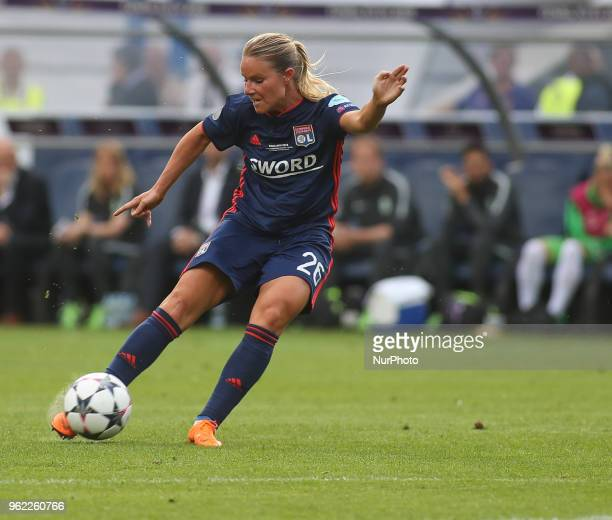 Amandine Henry of Olympique Lyonnais in action during the UEFA Women's Champions League final match between VfL Wolfsburg and Olympique Lyonnais on...
