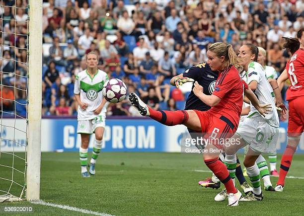 Amandine Henry of Olympique Lyonnais in action during UEFA Women's Champions League Final between VfL Wolfsburg v Olympique Lyonnais at Mapei Stadium...