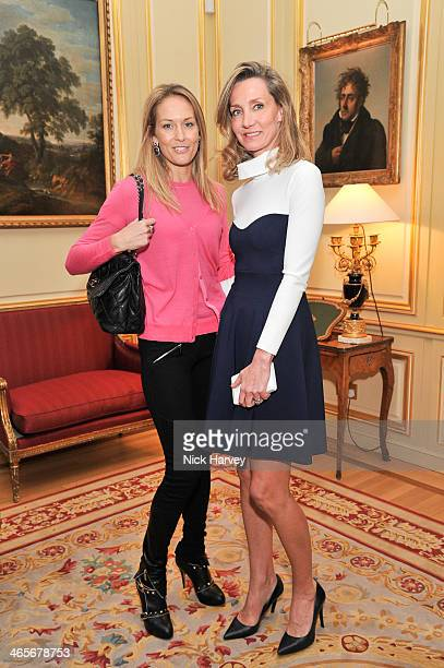 Amandine Mallen and Marie Moatti attend an evening to celebrate the Roger Vivier RendezVous SpringSummer 2013 limited edition collection on January...