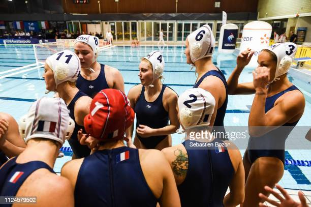 Amandine Paillat of France Aurelie Battu of France Morgane Leourx of France Geraldine Mahieu of France and Lea Bachelier of France during the Women's...