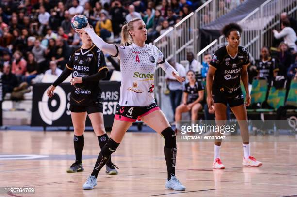 Amandine TISSIER of Brest during the French Women's Ligue Butagaz Energie Handball match between Paris 92 and Brest at Palais des Sports Robert...
