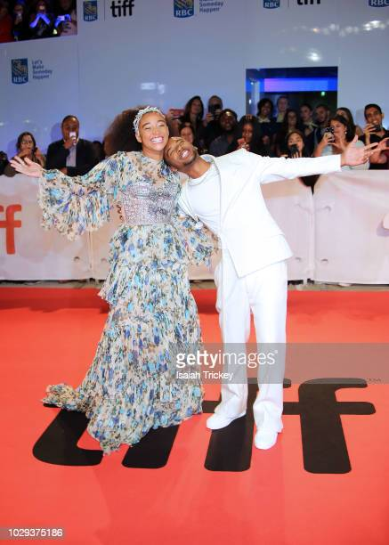 Amandla Stenberg and Algee Smith attends the 'The Hate U Give' premiere during 2018 Toronto International Film Festival at Roy Thomson Hall on...