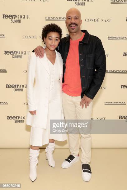 Amandla Stenberg and Common attend Teen Vogue Summit 2018: #TurnUp - Day 2 at The New School on June 2, 2018 in New York City.
