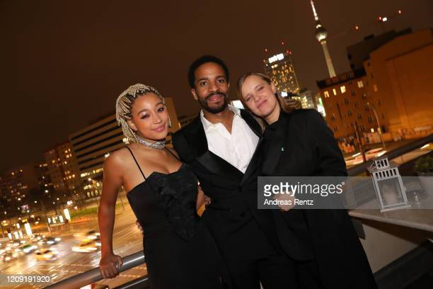 Amandla Stenberg Andre Holland and Joanna Kulig attend the post premiere cocktail reception of The Eddy during the 70th Berlinale International Film...