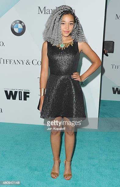 Amandla Stenberg arrives at Women In Film 2015 Crystal Lucy Awards at the Hyatt Regency Century Plaza on June 16 2015 in Los Angeles California