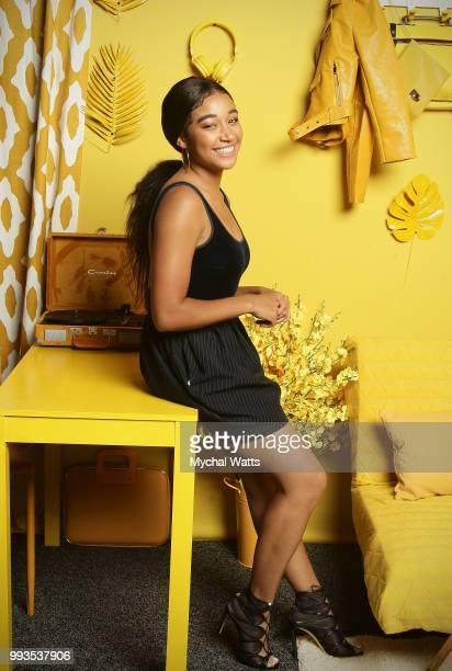 Amandla Stenberg at the 2018 Essence Music Festival Getty Images Portrait Studio on July 6 2018 in New Orleans Louisiana