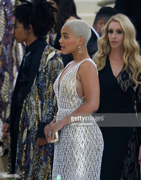 Amandla Stenberg attends Heavenly Bodies Fashion The Catholic Imagination Costume Institute Gala at The Metropolitan Museum of Art on May 7 2018 in...