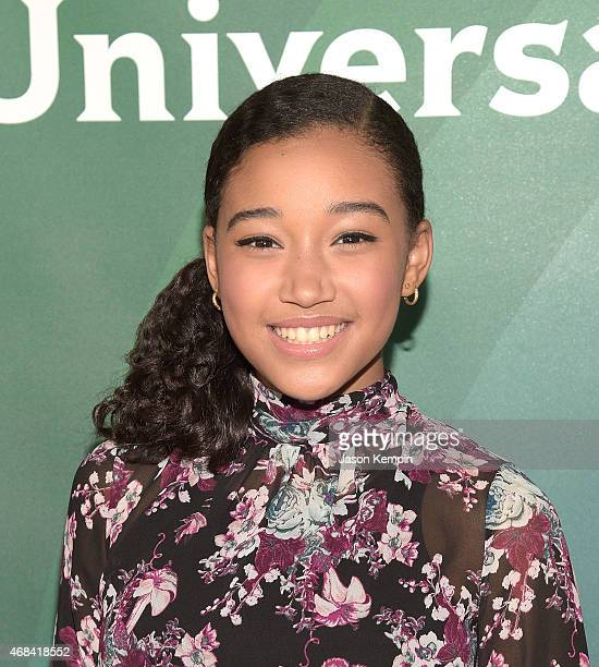 Amandla Stenberg attends the 2015 NBCUniversal Summer Press Day at the Langham Hotel on April 2 2015 in Pasadena California
