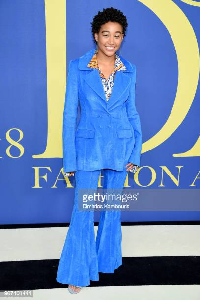 Amandla Stenberg attends the 2018 CFDA Fashion Awards at Brooklyn Museum on June 4 2018 in New York City