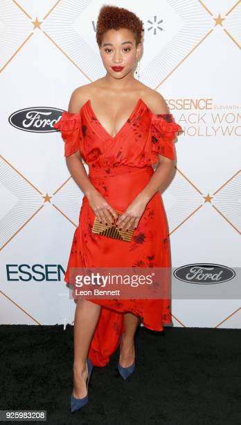 Amandla Stenberg attends the 2018 Essence Black Women In Hollywood Oscars Luncheon at Regent Beverly Wilshire Hotel on March 1 2018 in Beverly Hills...
