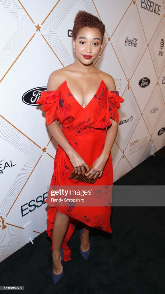 Amandla Stenberg attends the 2018 Essence Black Women In Hollywood Oscars Luncheon at Regent Beverly Wilshire Hotel on March 1, 2018 in Beverly Hills, California.
