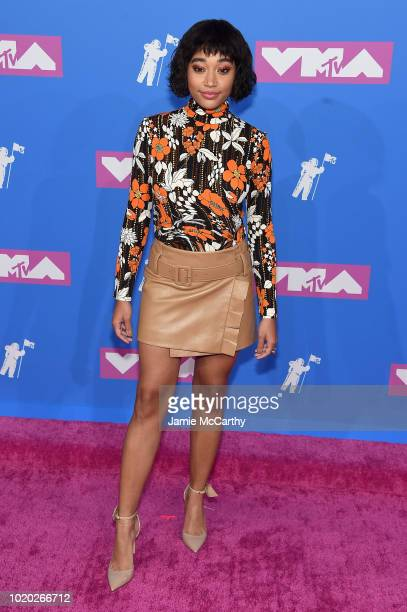Amandla Stenberg attends the 2018 MTV Video Music Awards at Radio City Music Hall on August 20 2018 in New York City