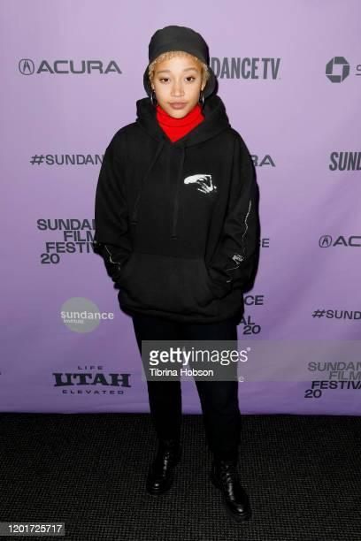 Amandla Stenberg attends the 2020 Sundance Film Festival BLKNWS Premiere at Temple Theater on January 24 2020 in Park City Utah