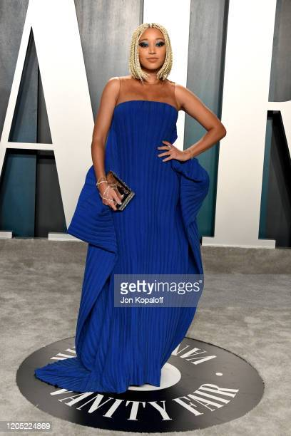 Amandla Stenberg attends the 2020 Vanity Fair Oscar Party hosted by Radhika Jones at Wallis Annenberg Center for the Performing Arts on February 09...