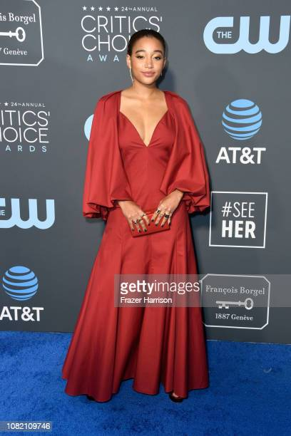 Amandla Stenberg attends the 24th annual Critics' Choice Awards at Barker Hangar on January 13 2019 in Santa Monica California