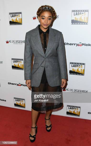 Amandla Stenberg attends the 2nd Annual Los Angeles Online Film Critics Society Award Ceremony at Taglyan Cultural Complex on January 09 2019 in...