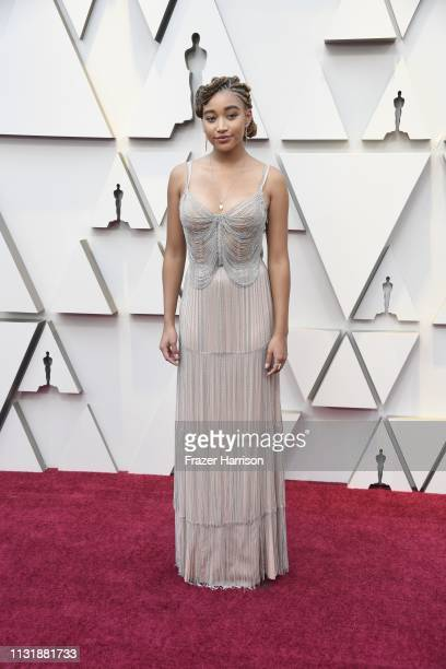 Amandla Stenberg attends the 91st Annual Academy Awards at Hollywood and Highland on February 24 2019 in Hollywood California
