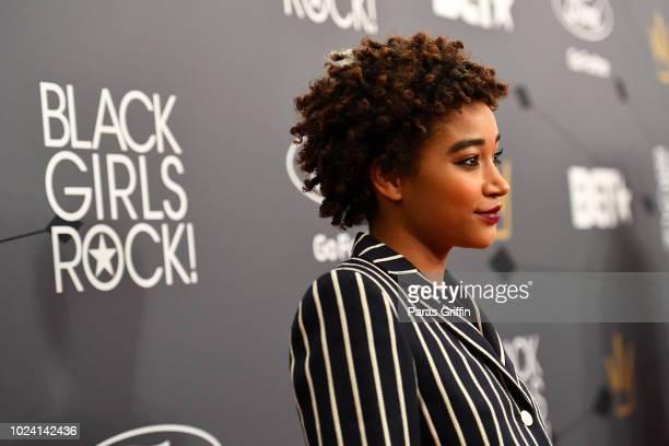 Amandla Stenberg attends the Black Girls Rock 2018 Red Carpet at NJPAC on August 26 2018 in Newark New Jersey