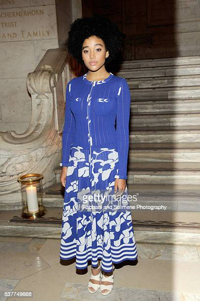 Amandla Stenberg attends the CHANEL Fine Jewelry Dinner supporting treasures from the New York Public Library Collection at the New York Public...