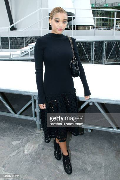 Amandla Stenberg attends the Chanel show as part of the Paris Fashion Week Womenswear Fall/Winter 2017/2018 on March 7 2017 in Paris France