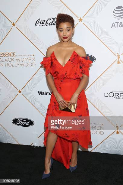 Amandla Stenberg attends the Essence 11th Annual Black Women In Hollywood Awards Gala at the Beverly Wilshire Four Seasons Hotel on March 1 2018 in...