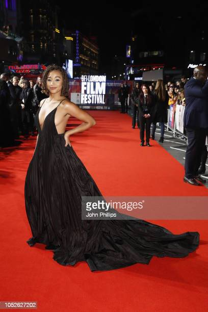 Amandla Stenberg attends the European Premiere of 'The Hate U Give' during the 62nd BFI London Film Festival on October 20 2018 in London England