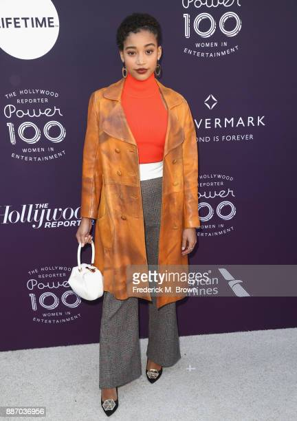 Amandla Stenberg attends The Hollywood Reporter's 2017 Women In Entertainment Breakfast at Milk Studios on December 6 2017 in Los Angeles California