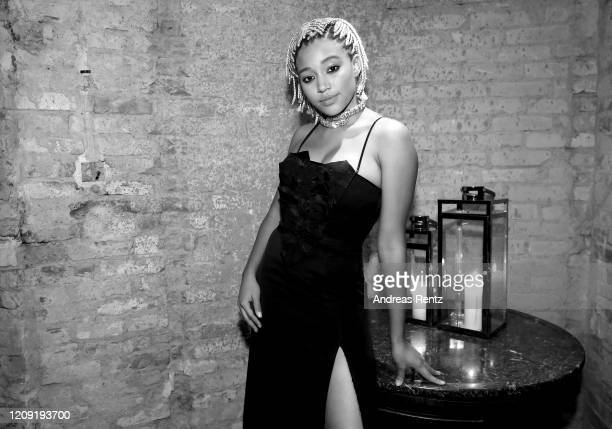 Amandla Stenberg attends the post premiere cocktail reception of The Eddy during the 70th Berlinale International Film Festival Berlin at Soho House...