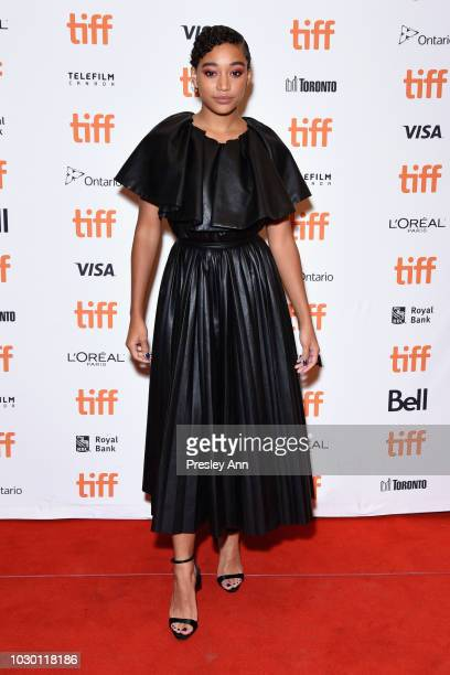 Amandla Stenberg attends the Where Hands Touch premiere during 2018 Toronto International Film Festival at Winter Garden Theatre on September 9 2018...