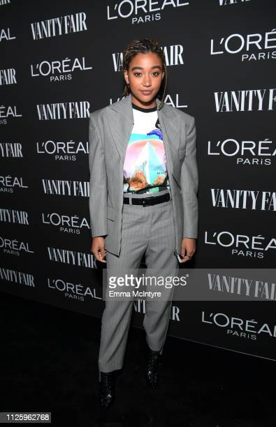 Amandla Stenberg is seen as Vanity Fair and L'Oréal Paris Celebrate New Hollywood on February 19 2019 in Los Angeles California