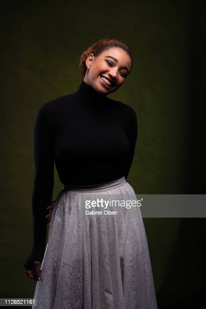 Amandla Stenberg poses for a portrait at Morgan Stanley presents Alfre Woodard's 10th Annual Sistahs' Soiree on February 20 2019 in Los Angeles...