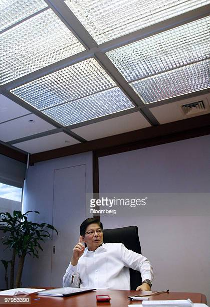 Amando Tetangco, governor of Bangko Sentral ng Pilipinas, speaks during an interview in his office at the central bank, in Manila, the Philippines,...