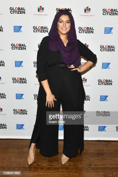 Amani AlKhatahtbeh attends Global Citizen Week The Spirit Of A Movement at Riverside Church on September 22 2018 in New York City
