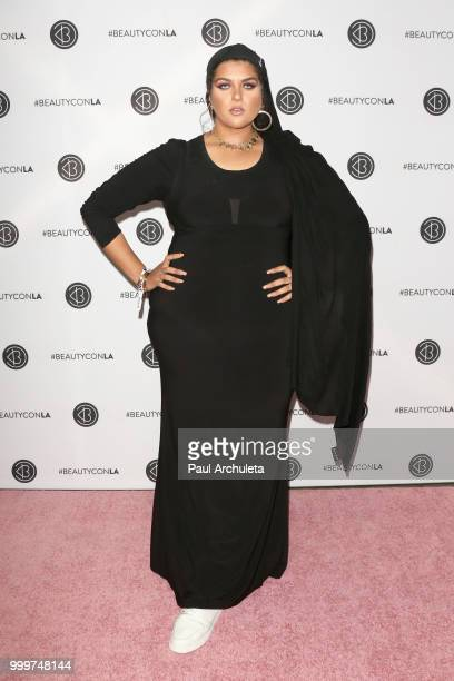 Amani AlKhatahtbeh attends the Beautycon Festival LA 2018 at the Los Angeles Convention Center on July 15 2018 in Los Angeles California