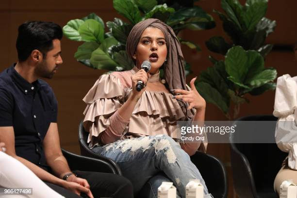 Amani AlKhatahtbeh speaks onstage during Teen Vogue Summit 2018 #TurnUp Day 2 at The New School on June 2 2018 in New York City