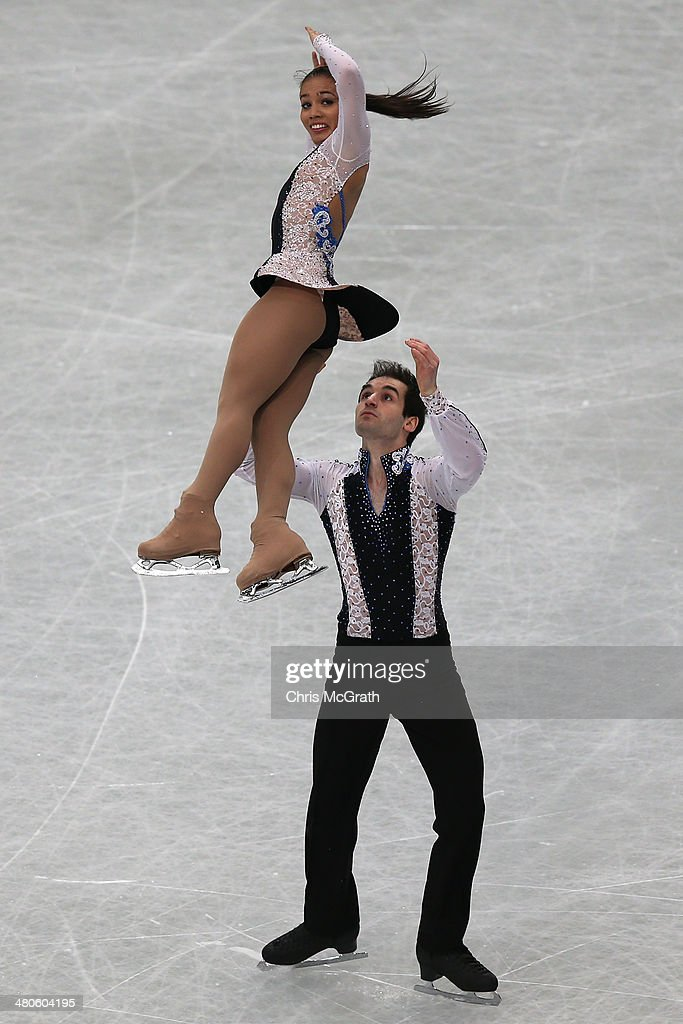 Amani Fancy and Christopher Boyadji of Great Britain compete in the Pairs Short Program during ISU World Figure Skating Championships at Saitama Super Arena on March 26, 2014 in Saitama, Japan.