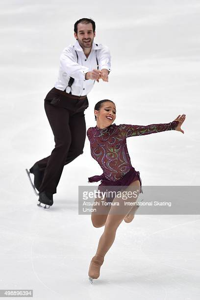 Amani Fancy and Christopher Boyadji of Great Britain compete in the pairs short program during the day one of the NHK Trophy ISU Grand Prix of Figure...