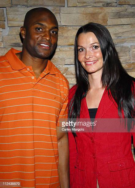 Amani Toomer and Maj during Retreat Lounge Hosts NY Giants' Shaun O'Hara's Surprise 30th Birthday Party at Retreat in New York City New York United...