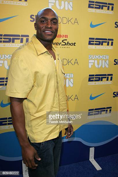Amani Toomer attends ESPN THE MAGAZINE's SUMMER FUN Hosted by TAYE DIGGS and LAILA ALI at Chelsea Piers on June 6 2007 in New York City
