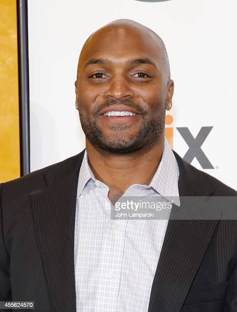 Amani Toomer attends Forgotten Four The Integration Of Pro Football at The New York Times Center on September 17 2014 in New York City
