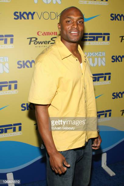 Amani Toomer during ESPN Magazine Summer Fun Party Arrivals at Pier 59 at Chelsea Piers in New York City New York United States