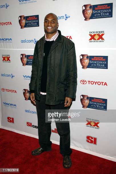 Amani Toomer during Sports Illustrated 2005 Sportsman of the Year Party Arrivals at Stone Rose in New York City New York United States