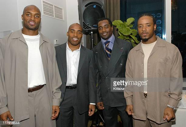 Amani Toomer NY Giants Tiki Barber NY Giants Curtis Martin NY Jets and Santana Moss NY Jets