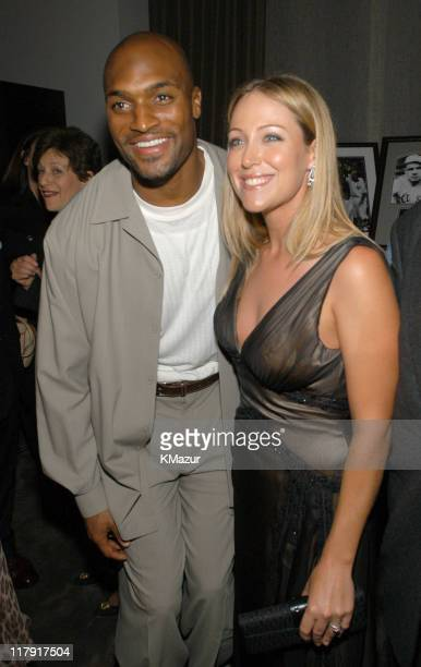 Amani Toomer of the NY Giants and Cristie Kerr during New York Sports Night at the Esquire Apartment at The Esquire Apartment in New York City New...