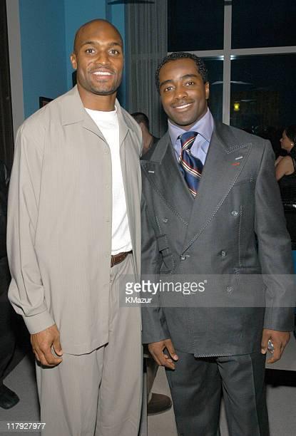Amani Toomer of the NY Giants and Curtis Martin of the NY Jets
