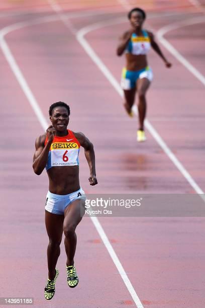 Amantle Montsho of Botswana competes to win the Women's 400m during the Seiko Golden Grand Prix Kawasaki at Todoroki Stadium on May 6, 2012 in...
