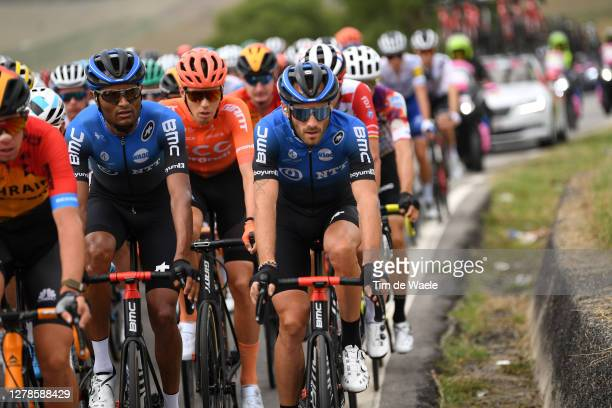 Amanuel Ghebreigzabhier Werkilul of Eritrea and NTT Pro Cycling Team / Attila Valter of Hungary and CCC Team / Danilo Wyss of Switzerland and NTT Pro...
